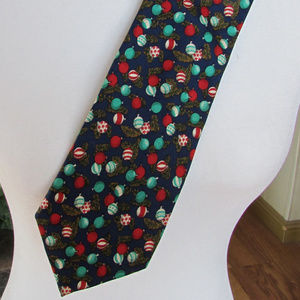 Christmas Time Tie by Lands' End 100% Silk